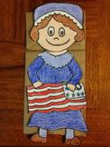 Betsy Ross Paper Bag Puppet