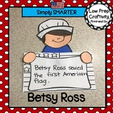Betsy Ross Writing Cut and Paste Craftivity