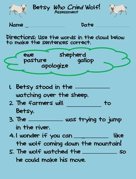 Betsy Who Cried Wolf assessment