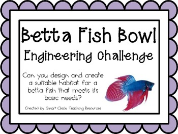 Betta Fish Bowl: Engineering Challenge Project ~ Great STEM Activity!