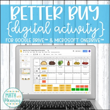 Better Buy Taco Tuesday Unit Rates DIGITAL Activity for Google Drive & OneDrive