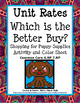 Unit Rates- Comparing rates/Better Buy and Coloring Activi