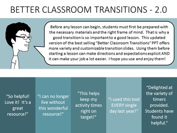 Better Classroom Transitions - PowerPoint Slides - 2.0 - [UPDATED]