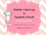 Better Hearing and Speech Month Bookmarks