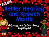 Better Hearing and Speech Month BHSM Activities and Bullet