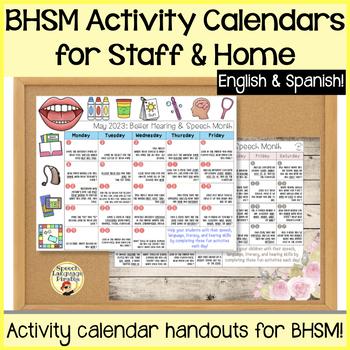 Better Hearing and Speech Month: Activity Calendar for Teachers and Parents