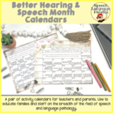 Better Hearing and Speech Month: Activity Calendar for Tea