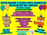 Better Hearing and Speech Month Articulation and Language Celebration Packet