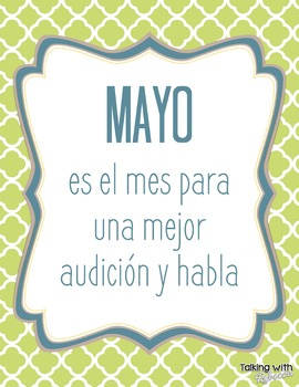 Better Hearing and Speech Month (BHSM) Posters in Spanish