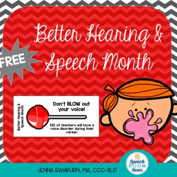 BHSM Better Hearing and Speech Month: Blow Pop tags for Teachers