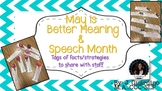Better Hearing and Speech Month Fact Tags