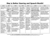 SLP Better Hearing&Speech Month (BHSM) Fact of the Day (31 days) Calendar Sheet