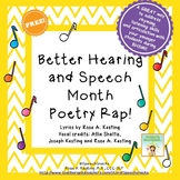 Better Hearing and Speech Month Poetry Rap! {An Audio Activity!}