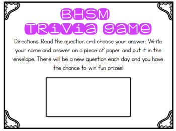 Better Hearing and Speech Month Trivia Game