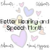 Better Hearing and Speech Month (Vocal Hygiene) Freebie