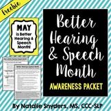 Better Hearing and Speech Month Awareness Packet for SLPs - Freebie