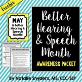 Better Hearing and Speech Month Awareness Packet for SLPs - Freebie