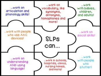 "Better Speech and Hearing Month: ""SLPs Can"" Puzzle"