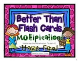Better Than Flash Cards Multiplication!  (For Interactive Journals or Lap Book)