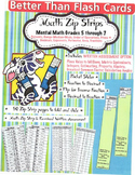 Better Than Flash Cards Zip Strip Math Grades 5 - 7 with A