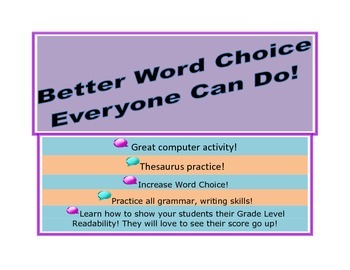 Better Word Choice! Yes, You Can!--Synonyms and Thesaurus