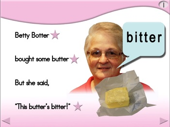 Betty Botter - Animated Step-by-Step Poem - Regular