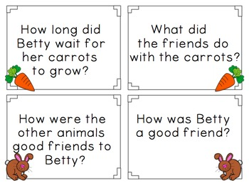 Betty Bunny Plants Carrots Reading Comprehension Pack