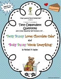 Betty Bunny Collection: Text-Dependent Questions and Close Reading Worksheets