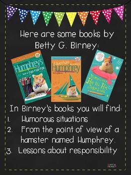 Betty G. Birney Author Study