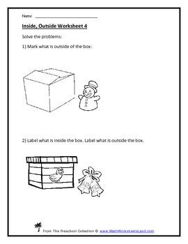 Between, Inside, Outside Positional Teacher Worksheet Pack