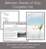 Between Shades of Gray- Ruta Sepetys Unit Plan and Chapter