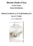 Between Shades of Gray Unit Materials