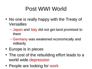 Between World War One and World War Two Guided Notes