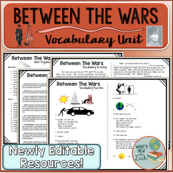 Between the Wars: A Complete Vocabulary Unit