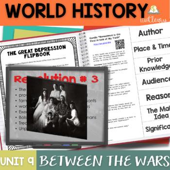 Between the Wars Interactive Notebook Unit Bundle