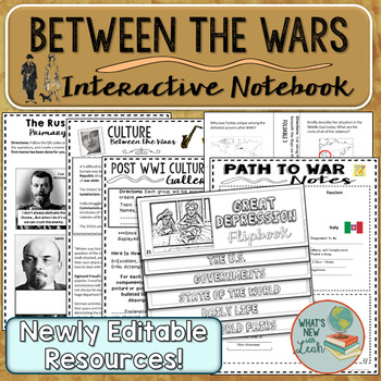 Between the Wars Interactive Notebook Complete Unit Bundle