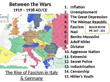 Between the Wars: The Rise of Fascism in Italy & Germay