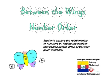 Number Order:  Before, Between, After