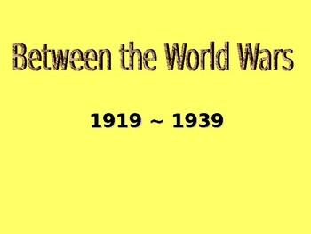 Between the World Wars PowerPoint