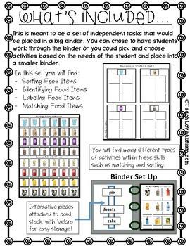 Food: Beverage Independent Work Binder