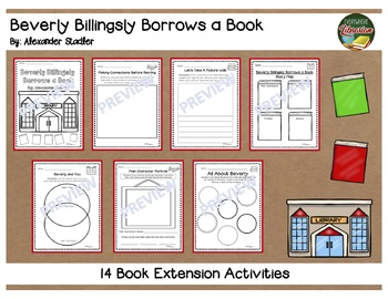 Beverly Billingsly Borrows a Book by Stadler 14 Extension Activities NO PREP