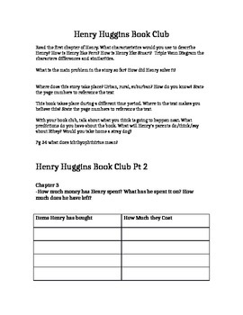 Beverly Clearly: Henry Huggins Book Questions