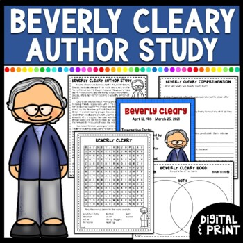 Beverly Cleary Author Study- Print & Google Classroom  | Distance Learning