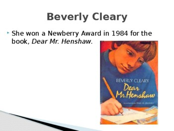 Beverly Cleary Biography PowerPoint