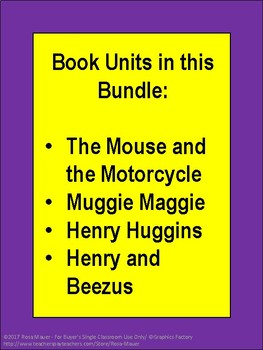 Beverly Cleary Literacy Bundle