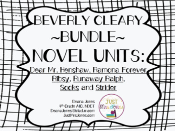 Beverly Cleary Novel Unit Bundle