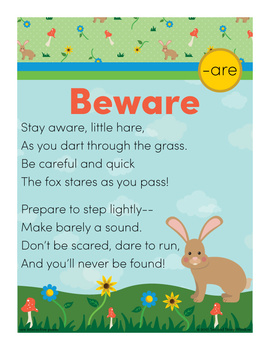 Beware  -are Word Family Poem of the Week