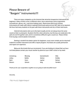 Beware of Bargain Instruments!