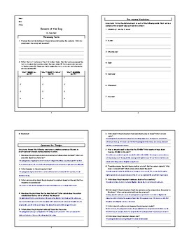 Beware of the Dog by Roald Dahl Lesson Plan, Worksheets, Questions, Key