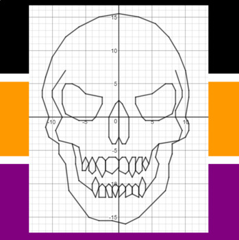 Halloween - Beware of the Skull - A Coordinate Graphing Activity